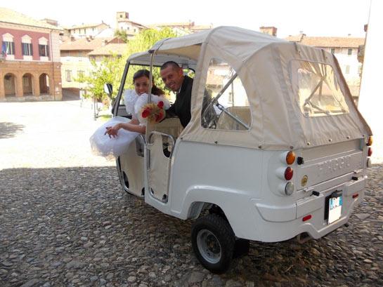 Matrimonio con l'Ape Calessino
