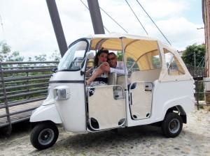 Auto per matrimoni. Ape Piaggio